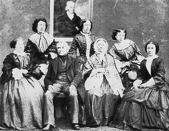 Familienfoto Thaddäus von Lanner